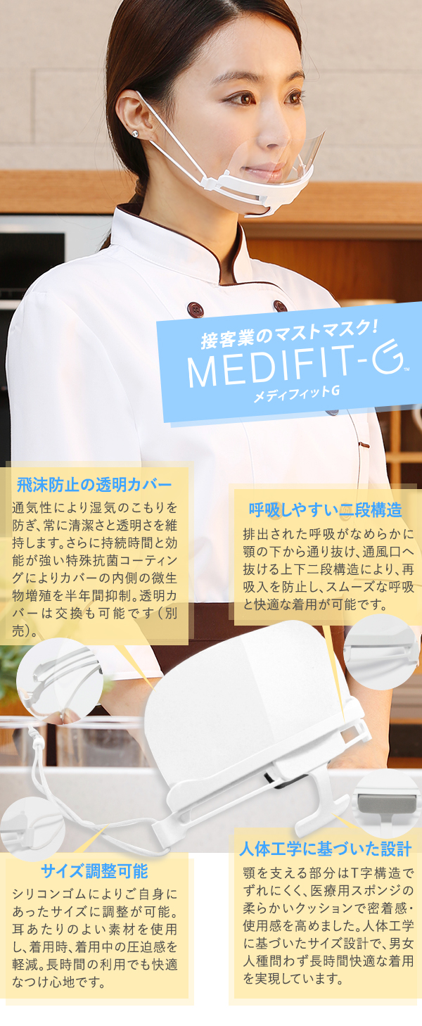 接客業のマストマスク MEDIFIT-G メディフィットG